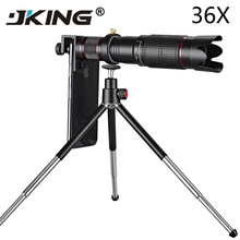 Универсальный 4K 36x зум Мобильный телефон Телескоп объектив телефото внешний объектив для смартфонов для IPhone Samsung; Huawei все телефон