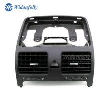 Widanfolly Черная передняя Центральная приборная панель вентиляционное отверстие для Jetta Golf Rabbit MK5 1KD819728 1KD 819 728 1K0819728