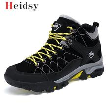 New Men Boots Winter With Fur 2019 Warm Snow Boots Men Winter Boots Work Shoes M