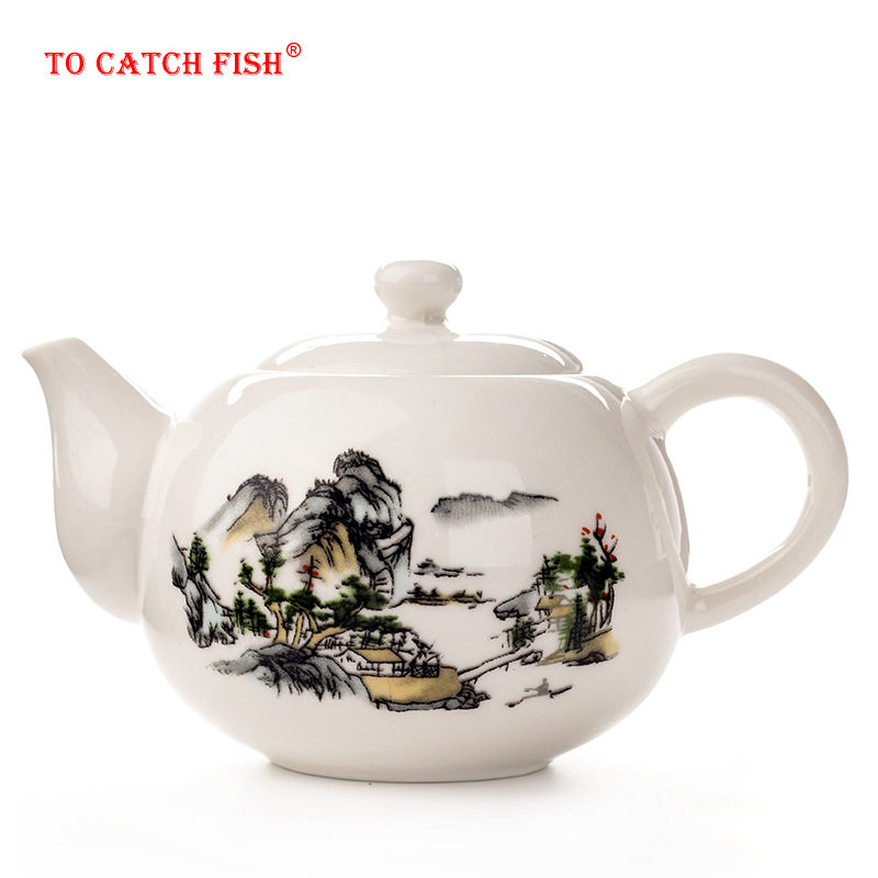 Chinese Kung Fu Tea pot Exquisite Ceramic Teapot Kettle Coffee Tea Sets Chinese traditions  Flower Tea Pot Porcelain Teaware|kettle pot|pot set|set pots - title=