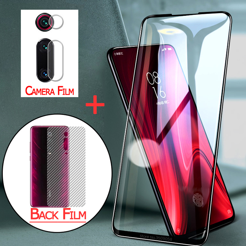 3-in-1 film, glass+back film for mi-9-lite <font><b>xiaomi</b></font> mi 9t 9se <font><b>protector</b></font> <font><b>camera</b></font> mi9lite xaomi 9 t pro <font><b>mi9</b></font> se mi9tpro tempered glass image