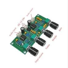 Placa de som pré-amplificadora ne5532 XH-A901, pré-amplificador com ajuste de volume de graves afiados para amplificador placa de placa
