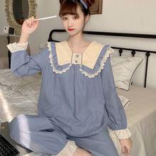 Женские пижамы одноцветные милые и свободные кружевные с кукольным