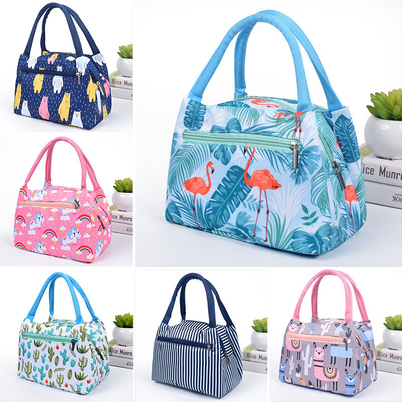 2019 New Cactus Portable Insulated Oxford Lunch Bags Thermal Food Picnic Lunch Bags For Women Kids Functional Cooler Lunch Box