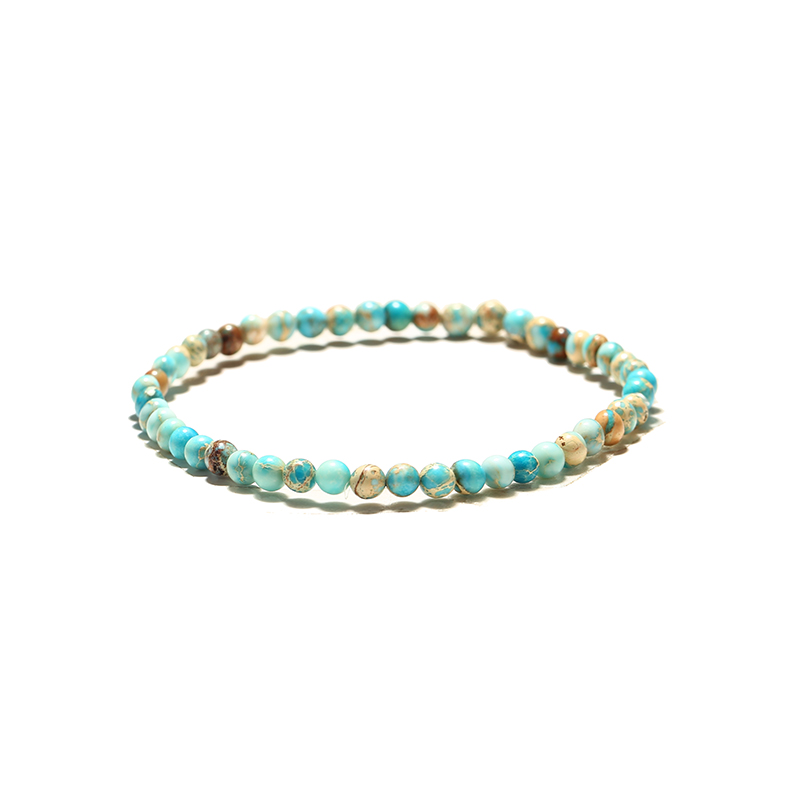 Noter Minimalist 4mm Small Beads Bracelet For Men Women Natural Opal Tiger eye Stone Braslet Casual Jewelry Accessories Pulseras