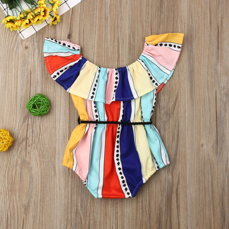 Toddler Baby Girl Newborn Clothes Romper Jumpsuit Summer Outfits Set