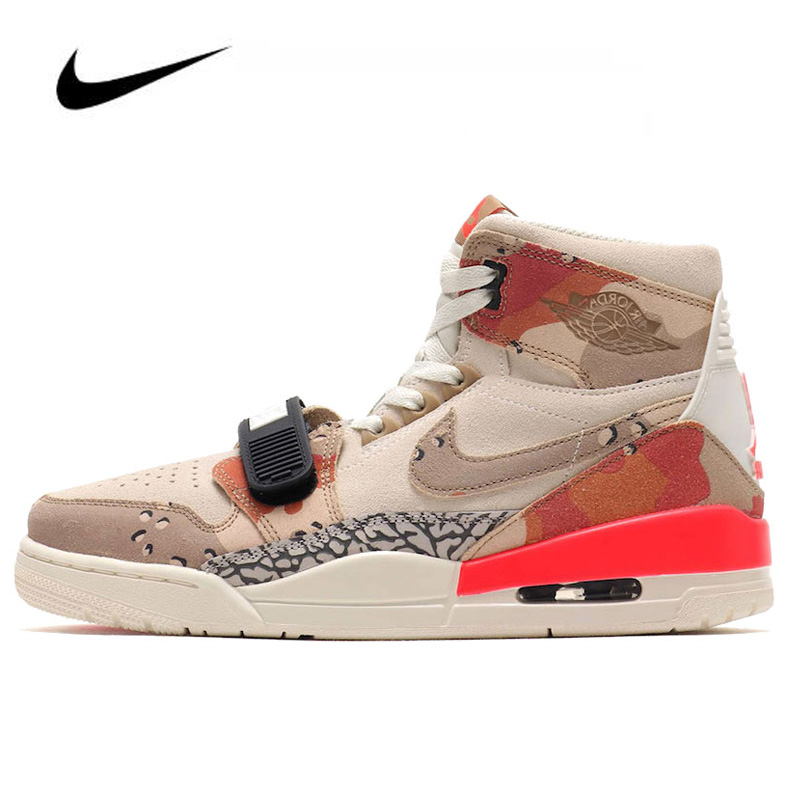 High Top Nike Air Jordan Legacy 312 Desert Camo Men  Basketball Shoes Women Outdoor Sports Sneakers  AV3922-126