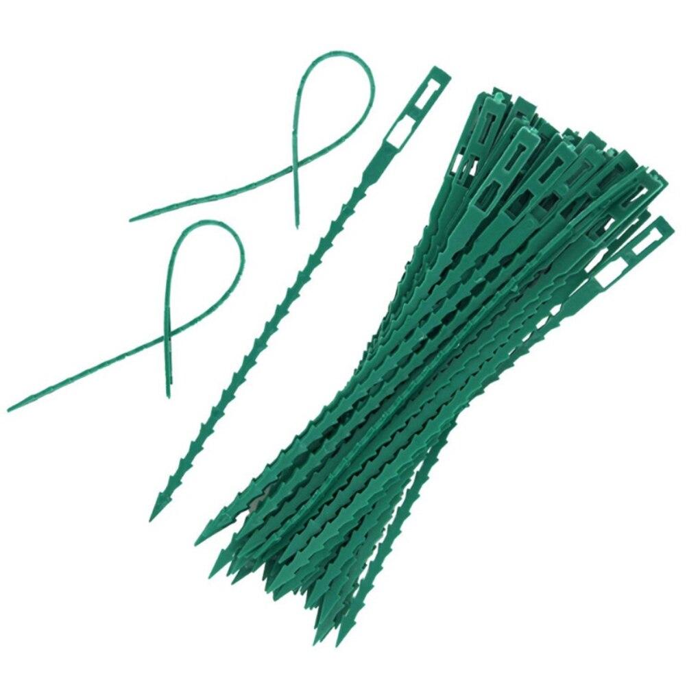 Регулируемые пластиковые кабельные стяжки для растений, многоразовые кабельные стяжки для сада, дерева, поддержки альпинизма, растений, ви...