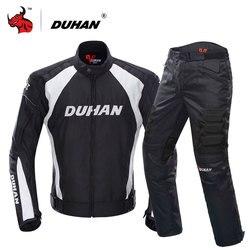 جاكيت للدراجة النارية من DUHAN بدلات لركوب الدراجات النارية مكونة من جاكيت وبنطلون ملابس واقية مدرعة للرجال للدراجات النارية