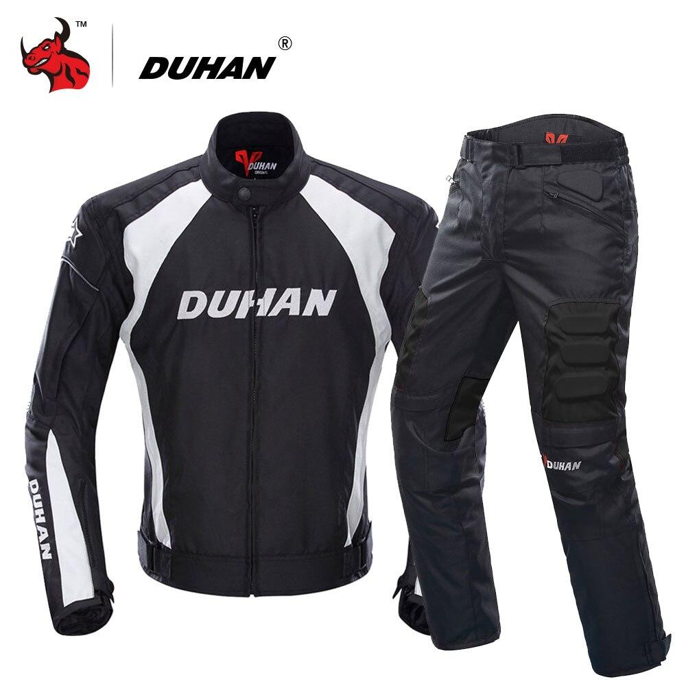 Duhan motocicleta jaqueta motocross ternos jaqueta & calças moto jaqueta de proteção engrenagem armadura roupas da motocicleta dos homens