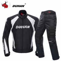 DUHAN Moto veste Motocross costumes veste et pantalon Moto veste équipement de protection armure hommes Moto vêtements