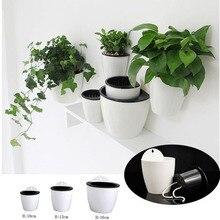 Настенный висячий горшок для растений, самостоятельный цветочный горшок с системой полива, корзина для растений, садовая подвесная плантаторная поставка, Домашние Растения, креативный Декор