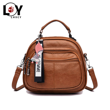 Vintage Women Soft Pu Leather Backpack Designer Women Multi-function Anti Theft Small Backpack Purse Female Ladies Shoulder Bag carteras mujer bag steampunk thigh motor leg outlaw pack thigh holster protected purse shoulder backpack purse leather women bag