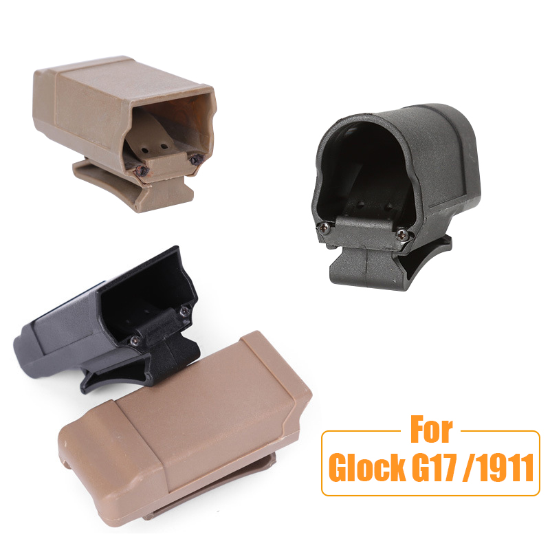 Tactical Stack CQC Magazine Holster Mag Pouch for <font><b>Glock</b></font> G17 1911 <font><b>9mm</b></font> Caliber Magazine Flashlight Holder Hunting <font><b>Gun</b></font> Accessories image