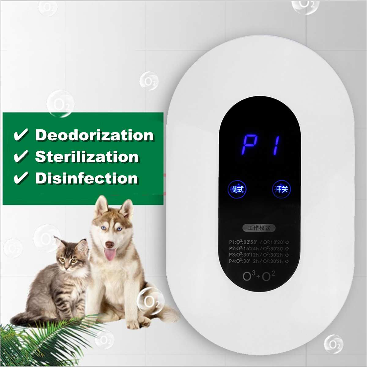 Ozone Generator Air-Purifier Remove Formaldehyde Smoke Dust Purification Home Room Ionizer Purifier Air Cleaner Oil-Diffuser