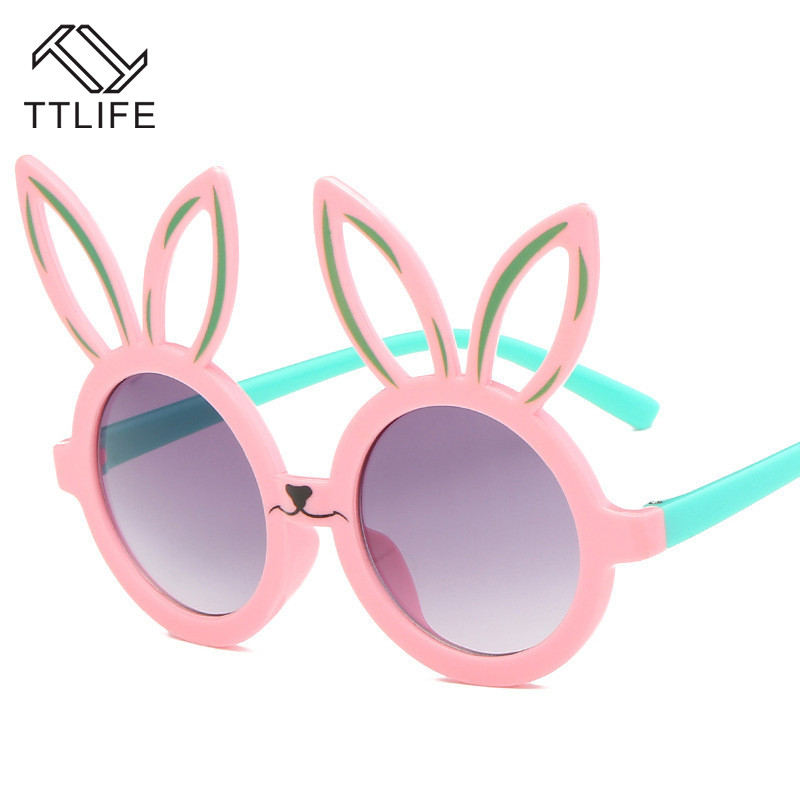 TTLIFE Cute Rabbit Shape Kids Sunglasses Uv400 Eyewear Shades Infant Polarized Child Sunglass Baby Children Safety Sunglasses