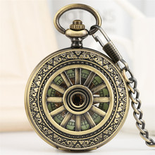 Luminous Mechanical Pocket Watch Hand-Winding Steampunk Pocket Hanging Chain Antique Watch for Men Women