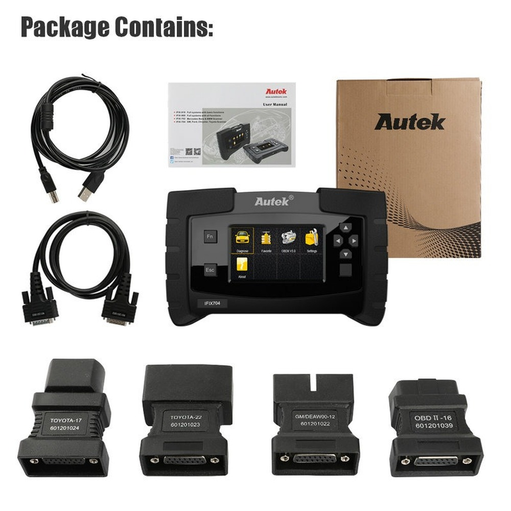 Autek IFIX704 Full System OBDII Auto Scanner For Chrysler Ford Toyota ABS Airbag SRS IMMO Multi Language OBD2 Diagnostic Tool - 6