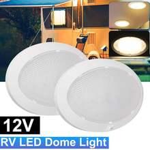 1Pc 4.2W แพนเค้ก LED Light Universal รถภายในเพดานโดมที่มีสวิทช์สำหรับรถ RV เรือสำหรับ Camper Trailer