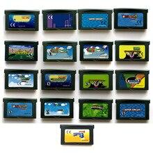 SuperMarioo serii z góry 1 2 3 4 pamięci kartridż dla 32 bitowego US EUR gra wideo konsoli do gier akcesoria