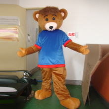 Blue bear cartoon costume adult size mascot ball