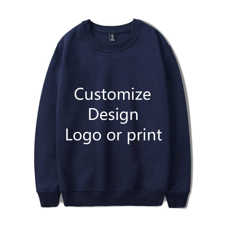 Men/Women Solid Color DIY Pullovers Your Own Design Customize Logo Text Image Sweatshirt Get Together Travel Couple Love Clothin