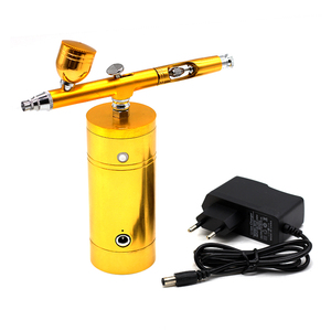 Image 5 - Dual Action  Airbrush Kit Compressor Portable Air Brush Paint Spray Gun For Nail Art Desgin Tattoo Cake With EU Adapter