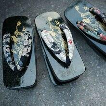 יפני מסורתי סנדל גטה Woodn כפכפים נעלי Slipppers גברים עץ בסגנון סיני נעלי קוספליי גטה נעל סנדלי