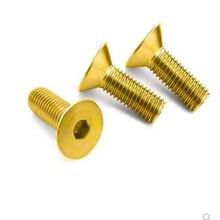 5-10 pces din7991 m2 m2.5 m3 m4 m5 m6 latão puro plana hex soquete parafusos de cabeça escareada