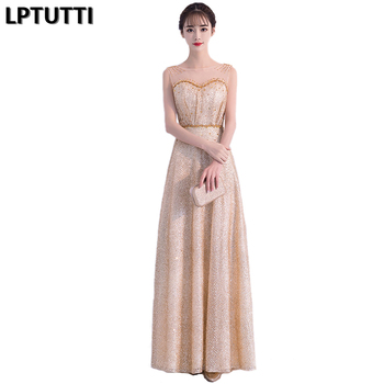 LPTUTTI Sequin Sexy V-Beading New For Women Elegant Date Ceremony Party Prom Gown Formal Gala Events Luxury Long Evening Dresses