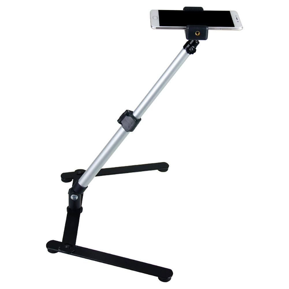 For Photograph Equiment Mini Monopod+Phone Clip Fill-In Light Bluetooth Control Adjustable Table Top Stand Set