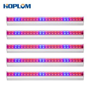 """Image 1 - LED לגדול אור ספקטרום מלא מקורה צמח מנורת AC110V 220V T5 צינור הנורה בר אור 2835 שבב האיחוד האירופי/בריטניה/ארה""""ב עבור צמחים"""