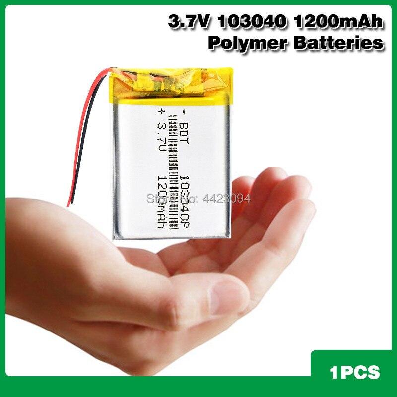 Bateria de polímero de lítio li 3.7 103040 mah, para lanterna led, controle remoto, selfie, 1200 v