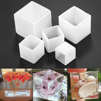 2cm-5cm Epoxy Resin Molds White Transparent Silicone Square Mold For DIY Jewelry Handmade Making Tools Accessories
