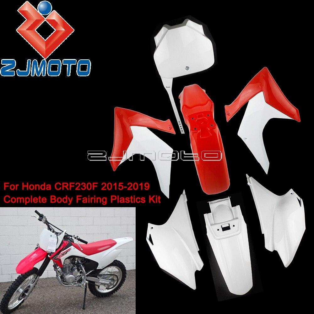 Motocross carénage capot garde-boue radiateur carénage couvertures latérales pour Honda CRF230F 2015-2019 Dirt Bike complet corps en plastique Kit