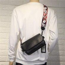 Vintage Strap Men Shoulder Bag Hip Hop Korean Casual Shoulder Bag Minimalist Fashion Bolsos Para Hombre Crossbody Bag DE50NDJ