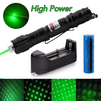 High Power green Laser Pointer 5MW Lazer Light Pen Powerful Laser Hunting 2 in 1Detachable Charger and 18650 battery|Lasers| |  -