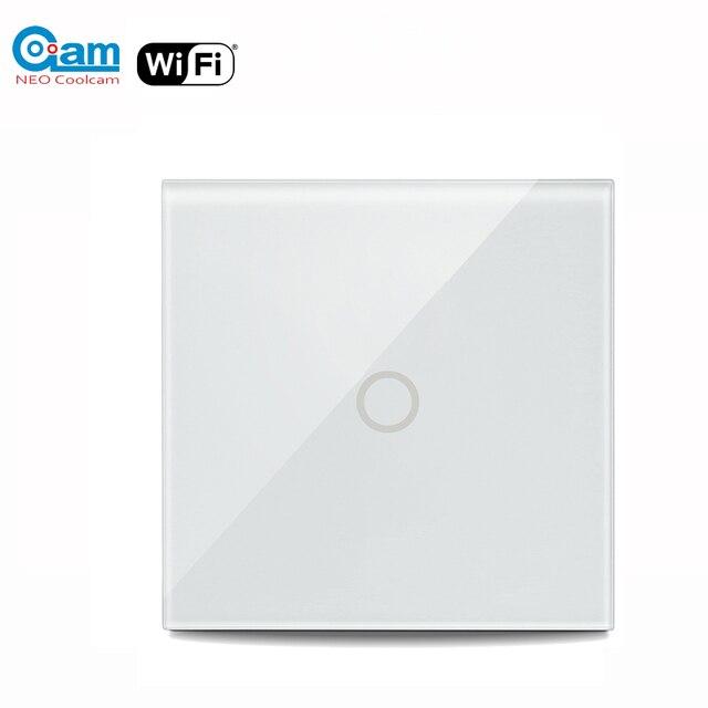 NEO Coolcam 5A واي فاي 1CH الجدار مفتاح الإضاءة لوحة زجاجية تعمل باللمس مع أليكسا جوجل المنزل IFTTT