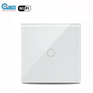 Image 1 - ネオ coolcam 5A wifi 1CH 壁ライトスイッチガラスパネルタッチ alexa google ホーム ifttt で動作
