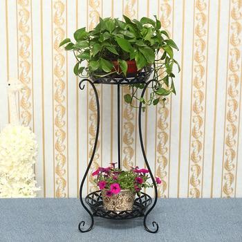 Multi-storey Landing Type Iron Art Flower Rack Indoor Balcony Green Luo Bonsai Small Flower Rack Ground Flower Basket Frame