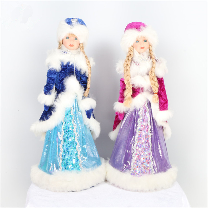 Candy Box Snow Maiden Doll Christmas Toys Kid Snow Maiden Costume For Children Christmas Decorations For Home New Year Ornaments