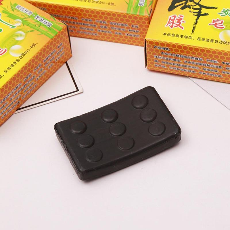 Handmade Bamboo Black Charcoal Soap Face Clear Anti Bacterial Whitening Soap