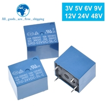 Relays SRD-05VDC-SL-C 250VAC 5PIN 12V 3V 6V 9V 24V 48V 10A