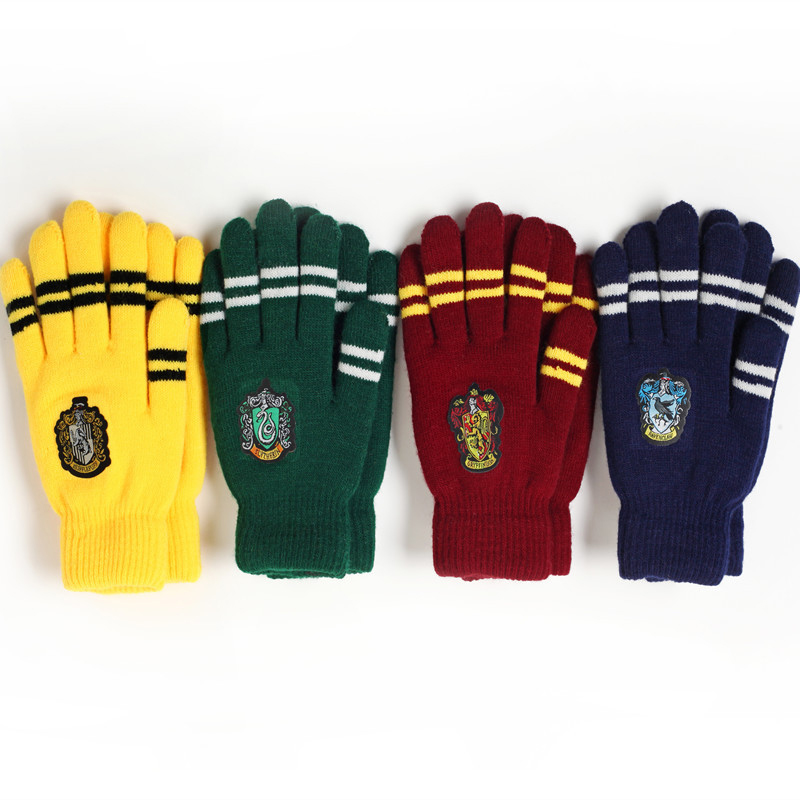 Magic Harri Symbol Knitted Gloves College Gloves Gryffindor Handwear Touchscreen Outdoor Gloves Practical Gifts