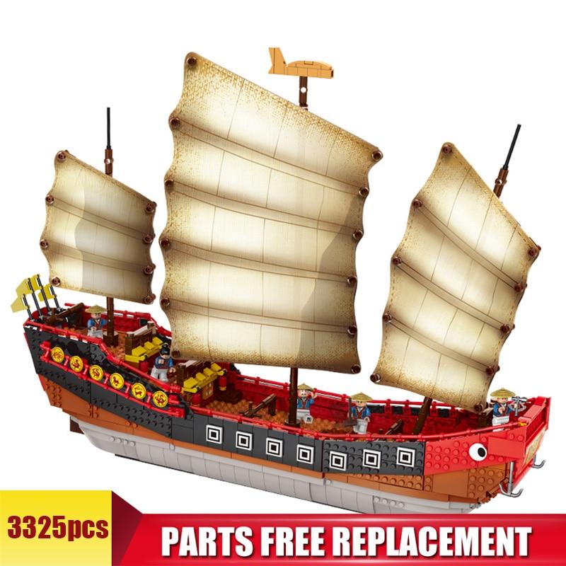 Купить большая модель парусного судна строительные блоки 1892 шт сборный