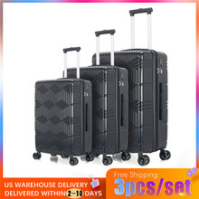 цена на VOGVIGO 3pcs/set ABS Spinner Carry-Ons Bag Koffer Rolling Luggage Set Cheap New Trolley Travel Suitcase on Wheels 202428 inch