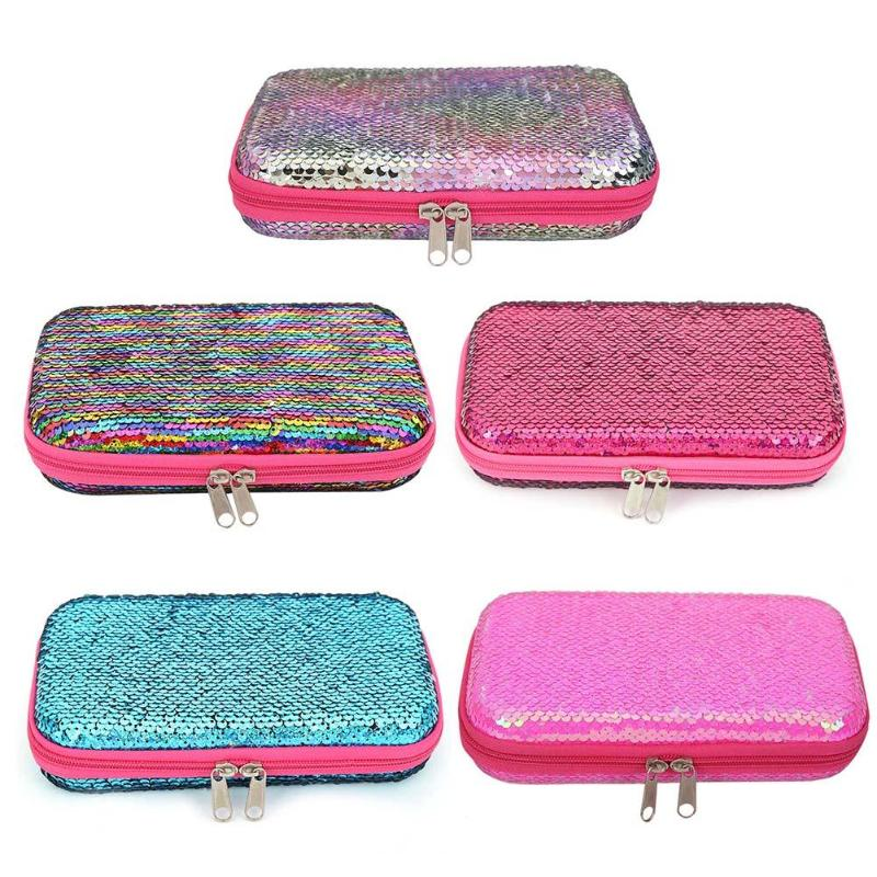 Cartoon EVA Pencil Cases Cosmetic Bag Sequins Boxes For School Stationery Supply Necessary Children Office Makeup Gadgets Newst