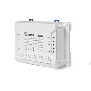 Image 3 - Sonoff 4CH פרו R2 10A/כנופיה 4 ערוץ Wifi חכם מתג 433 MHZ RF מרחוק Wifi אורות מתג תומך 4 מכשירים עובד עם Alexa