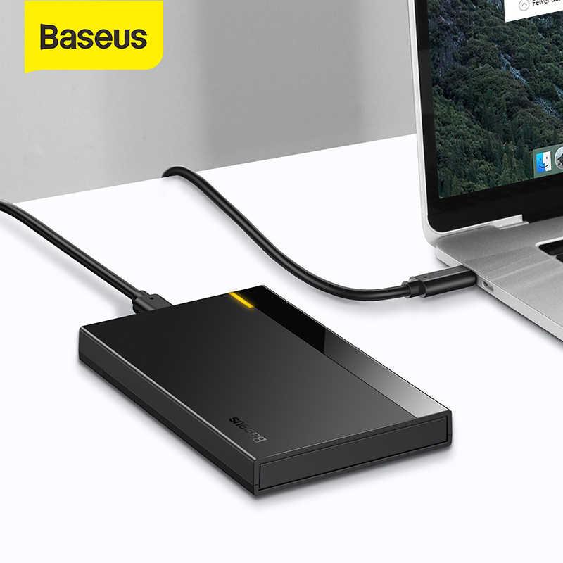 Baseus hdd caso 2.5 sata para usb 3.0 adaptador de disco rígido caso hdd gabinete para ssd tipo c 3.1 hdd caixa hd hdd externo caddy