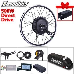 Image 1 - Ebike elektrikli bisiklet dönüşüm kiti XF39 XF40 Motor MXUS marka Hailong 1 2 pil 500W 48V 13AH 52V 17AH LED LCD Freehub